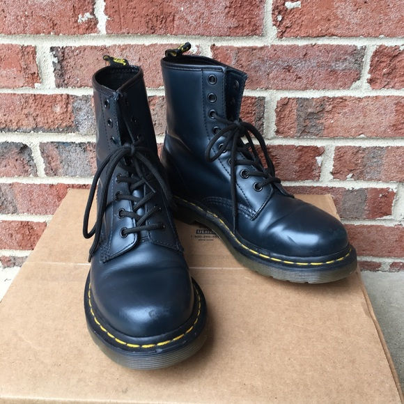 f217273a4bb20 Dark Blue Dr. Martens Patent Leather Size 7